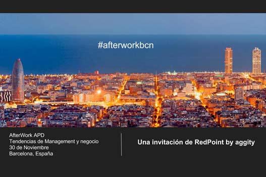 Invitación al Afterwork APD en Barcelona desde RedPoint by aggity